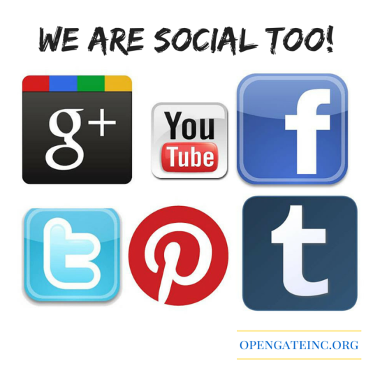 We are social too!